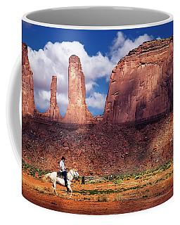 Cowboy And Three Sisters Coffee Mug by William Lee