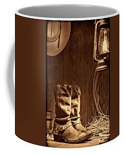 Cowboy Boots At The Ranch Coffee Mug