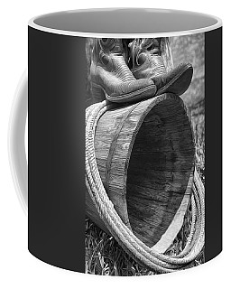 Cowboy Boots In Black And White Coffee Mug