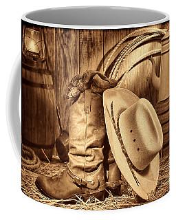 Cowboy Gear In Barn Coffee Mug