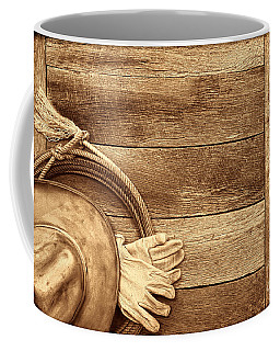 Cowboy Gear On The Floor Coffee Mug by American West Legend By Olivier Le Queinec