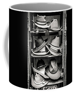 Coffee Mug featuring the photograph Cowboy Hat Display by Marilyn Hunt