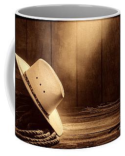 Cowboy Hat In The Old Barn Coffee Mug