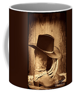 Cowboy Hat On Boots Coffee Mug