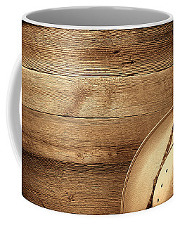 Cowboy Hat On Wood Table Coffee Mug