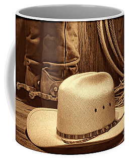 Cowboy Hat With Western Boots Coffee Mug