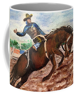 Cowboy In A Rodeo Coffee Mug