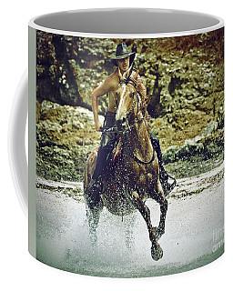 Cowboy Riding In The Sea Coffee Mug