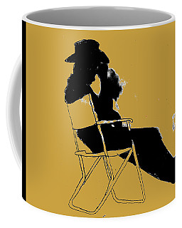 Coffee Mug featuring the mixed media Cowboy Silhouette by W And F Kreations