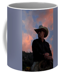 Coffee Mug featuring the photograph Cowboy Sunset by Jack Bell