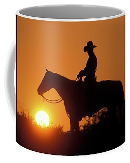Cowboy Sunset Silhouette Coffee Mug