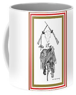 Coffee Mug featuring the drawing Cowboy Tribute by Jack Pumphrey