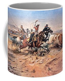 Cowboys Roping A Steer Coffee Mug