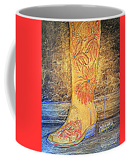 Cowgirl Western Boot Coffee Mug
