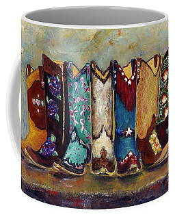 Cowgirls Kickin The Blues Coffee Mug by Frances Marino