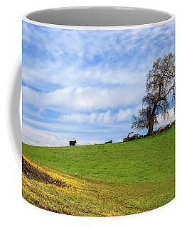 Cows On A Spring Hill Coffee Mug by James Eddy