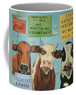 Cows On Strike Coffee Mug