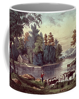 Cows On The Shore Of A Lake Coffee Mug