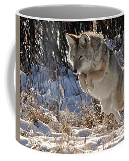 Coyote In Mid Jump Coffee Mug