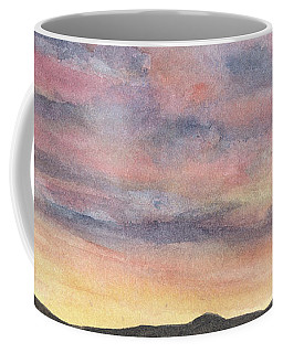 Coffee Mug featuring the painting Coyote Sunset by Betsy Hackett