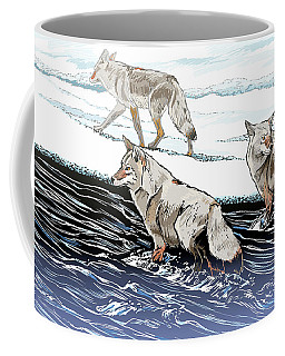 Coyotes At The Confluence Redux Coffee Mug