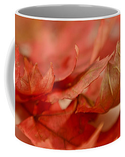 Coffee Mug featuring the photograph Cozying Up To The Autumn Maple 4 by Diane Alexander