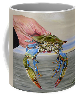 Coffee Mug featuring the painting Crab Fingers by Phyllis Beiser