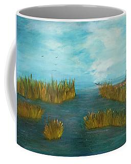 Crab Lady Landing In Big Lake Coffee Mug
