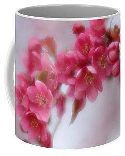 Coffee Mug featuring the photograph Crabapple Blossom - Dark Pink by Diane Alexander