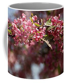 Crabapple In Spring Panoramic Coffee Mug