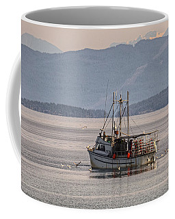Crabbing Coffee Mug by Randy Hall