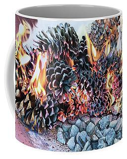 Crack Lin Cones On Quartz  Coffee Mug