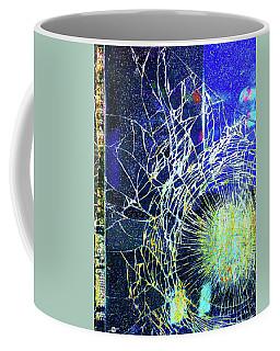 Coffee Mug featuring the mixed media Crack by Tony Rubino