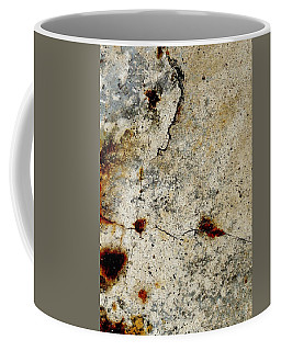 Cracked Concrete And Rust Abstract 1 Coffee Mug