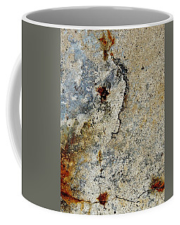 Cracked Concrete And Rust Abstract 2 Coffee Mug