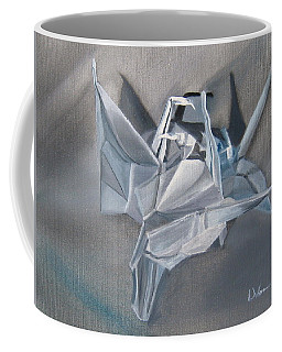 Crane Pile Coffee Mug by LaVonne Hand