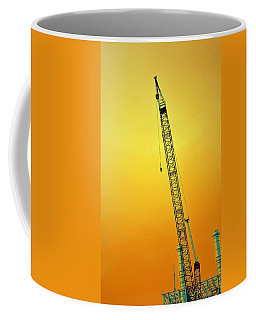 Crane With Towers Coffee Mug