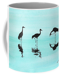 Cranes Coffee Mug by Edwin Alverio