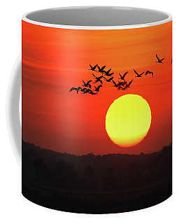 Cranes In The Sundown Coffee Mug