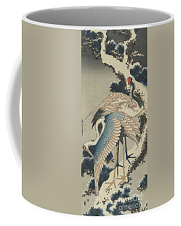 Cranes On Pine Coffee Mug