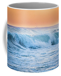 Coffee Mug featuring the photograph Crashing At Sunset by Parker Cunningham