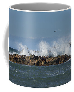Crashing Waves And Gulls Coffee Mug