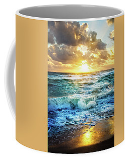Coffee Mug featuring the photograph Crashing Waves Into Shore by Debra and Dave Vanderlaan