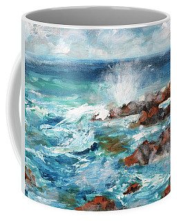 Crashing Waves Coffee Mug by Walter Fahmy