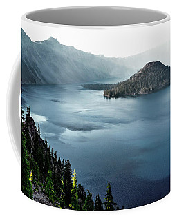 Crater Lake Under A Siege Coffee Mug by Eduard Moldoveanu