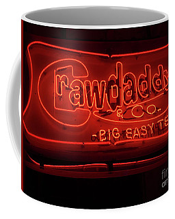 Coffee Mug featuring the photograph Craw Daddy Neon Sign by Steven Spak