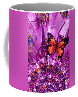 Crazy Flower Butterfly Coffee Mug