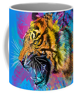 Crazy Tiger Coffee Mug
