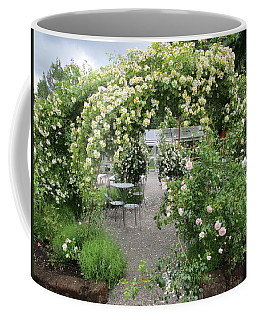 Cream-colored Roses With Your Coffee Coffee Mug