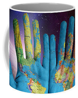 Coffee Mug featuring the digital art Created By God's Own Hands by ISAW Company